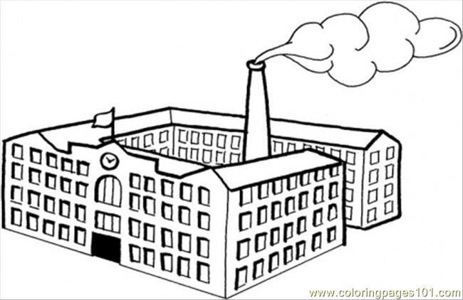 Factory coloring #16, Download drawings