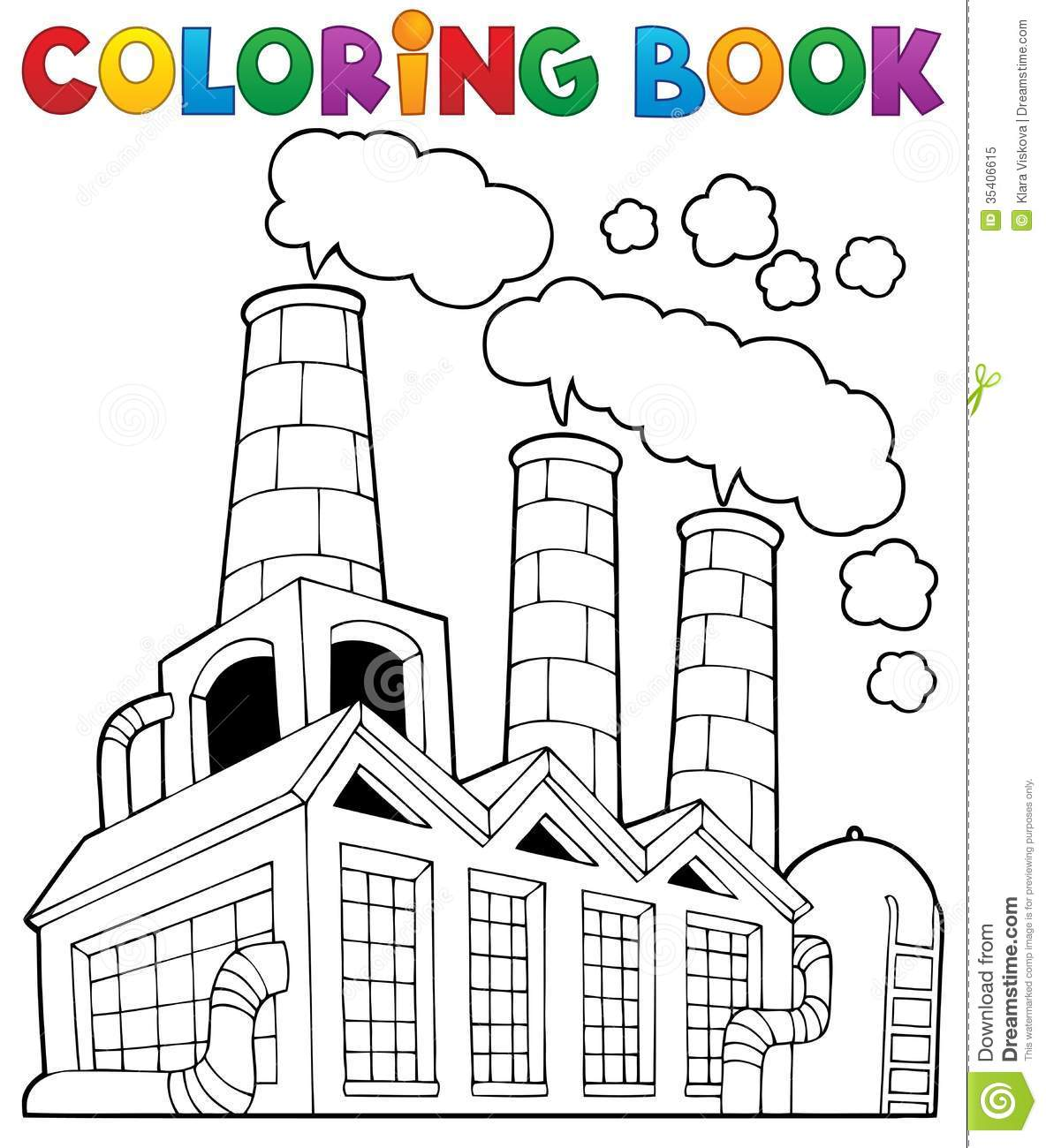 Factory coloring #4, Download drawings