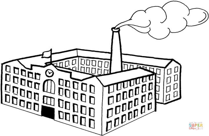 Factory coloring #14, Download drawings
