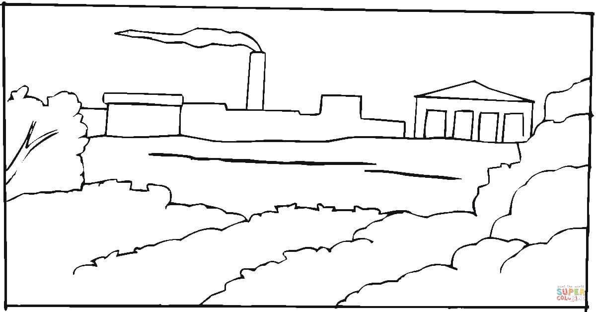 Factory coloring #10, Download drawings