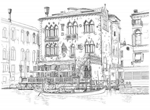 Venice coloring #18, Download drawings