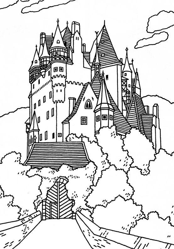 Neuschwanstein Castle coloring #15, Download drawings