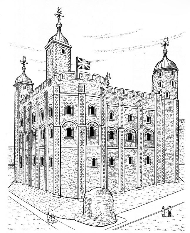 Fairfax Castle coloring #7, Download drawings