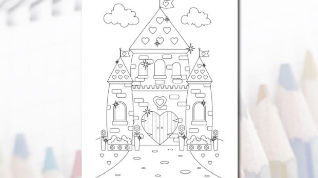 Fairfax Castle coloring #14, Download drawings