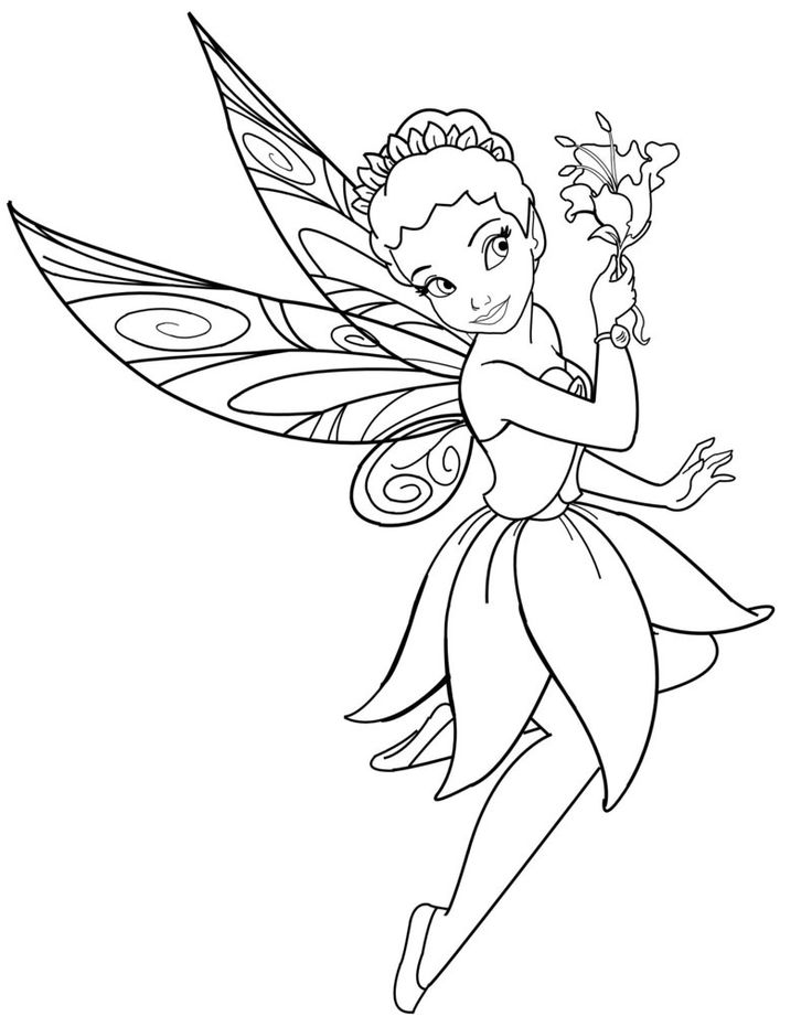 Fairy coloring #11, Download drawings