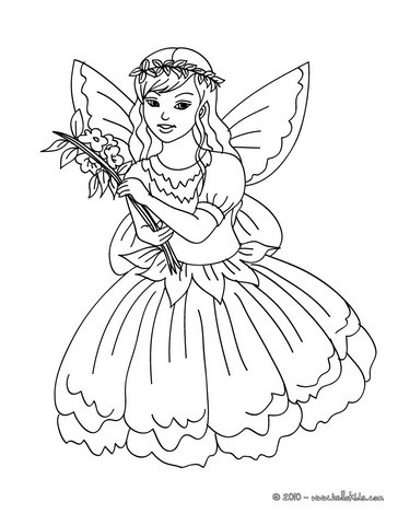 Fairy coloring #7, Download drawings