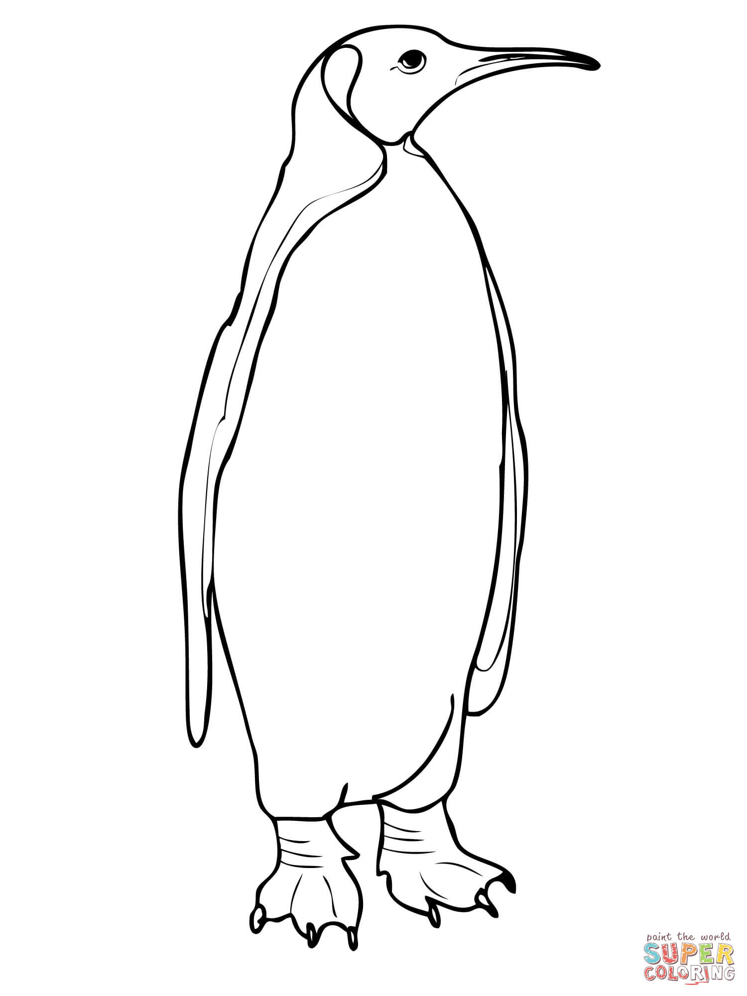 King Emperor Penguins coloring #9, Download drawings