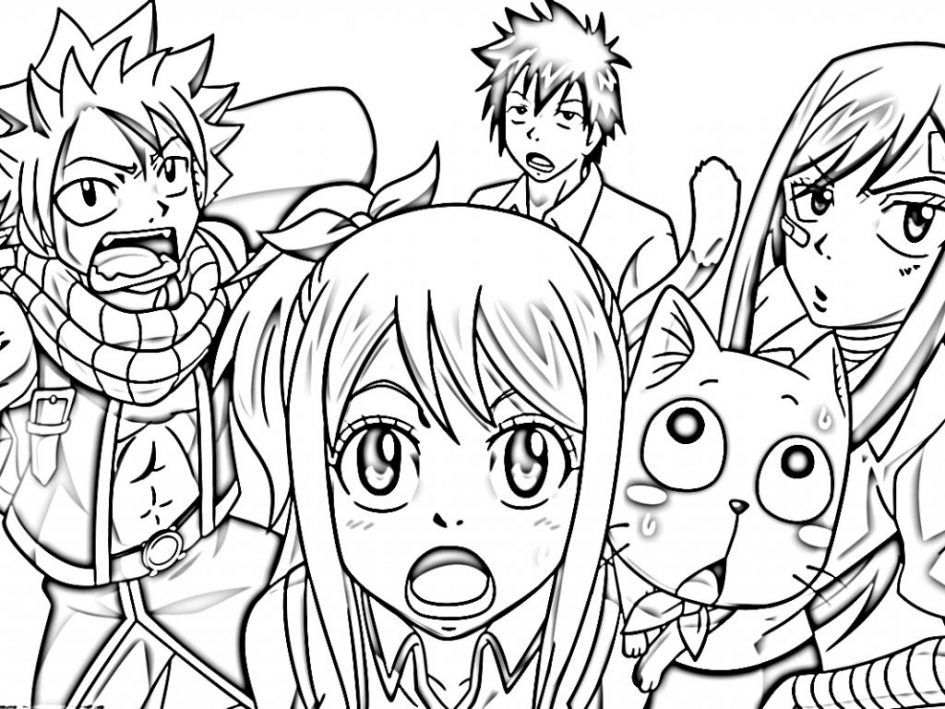 Fairy Tail coloring #15, Download drawings