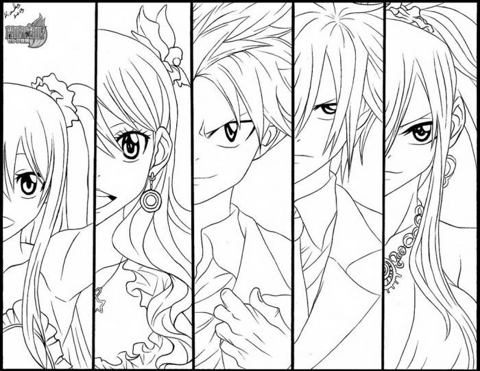 Fairy Tail coloring #2, Download drawings