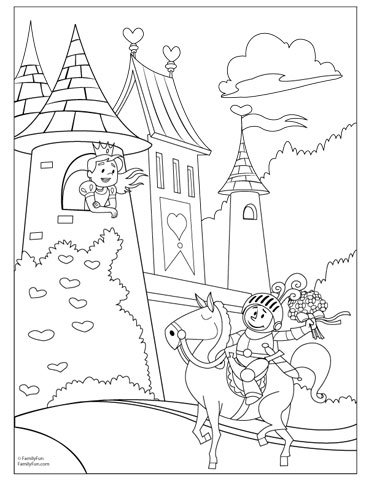 Fairytale coloring #13, Download drawings