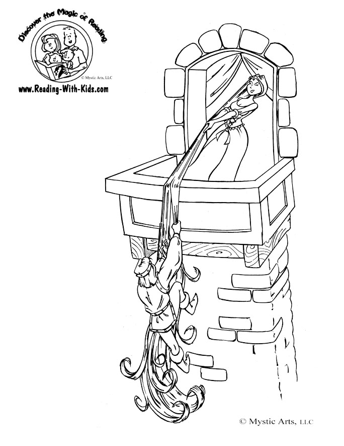 Fairytale coloring #3, Download drawings