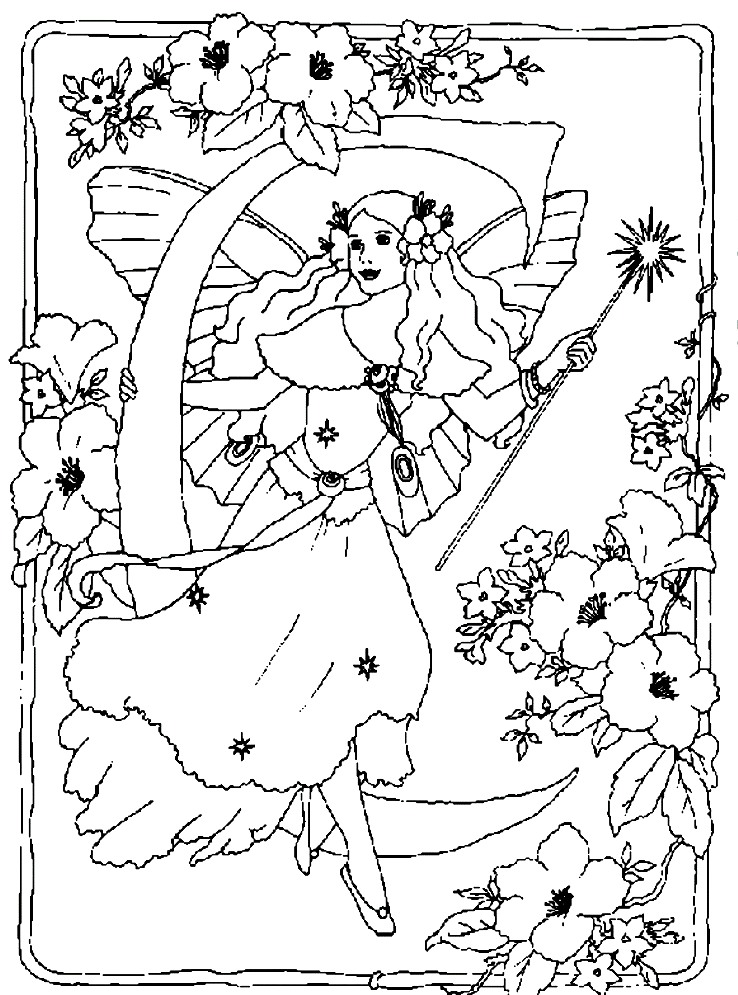 Fairytale coloring #12, Download drawings
