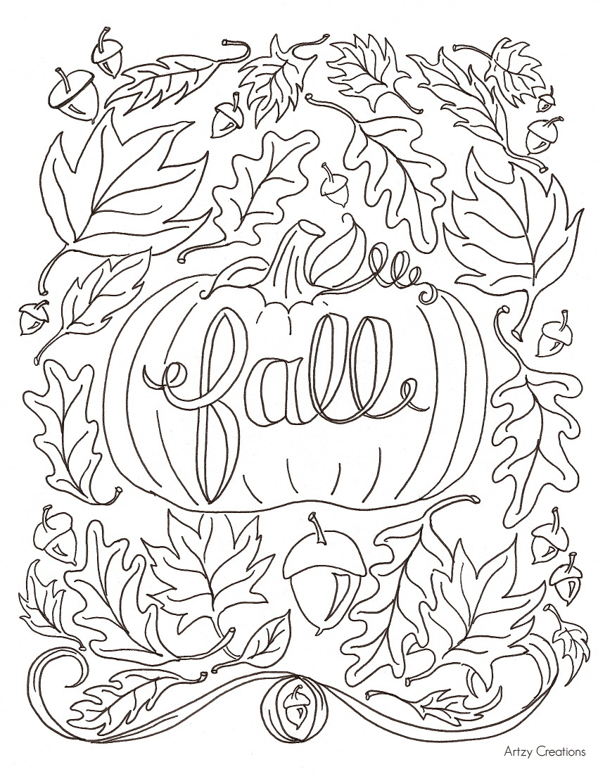 Fall coloring #6, Download drawings