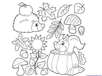 Fall coloring #3, Download drawings