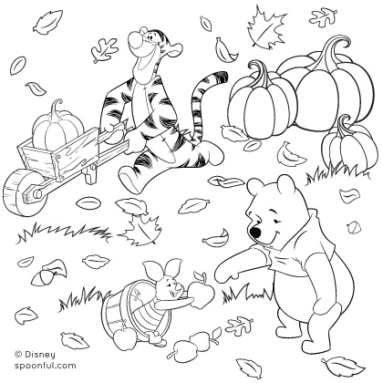 Fall coloring #7, Download drawings