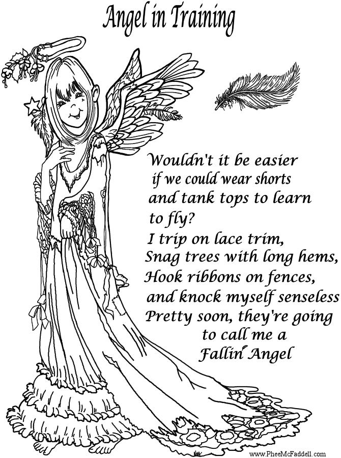 Fallen Angel coloring #18, Download drawings