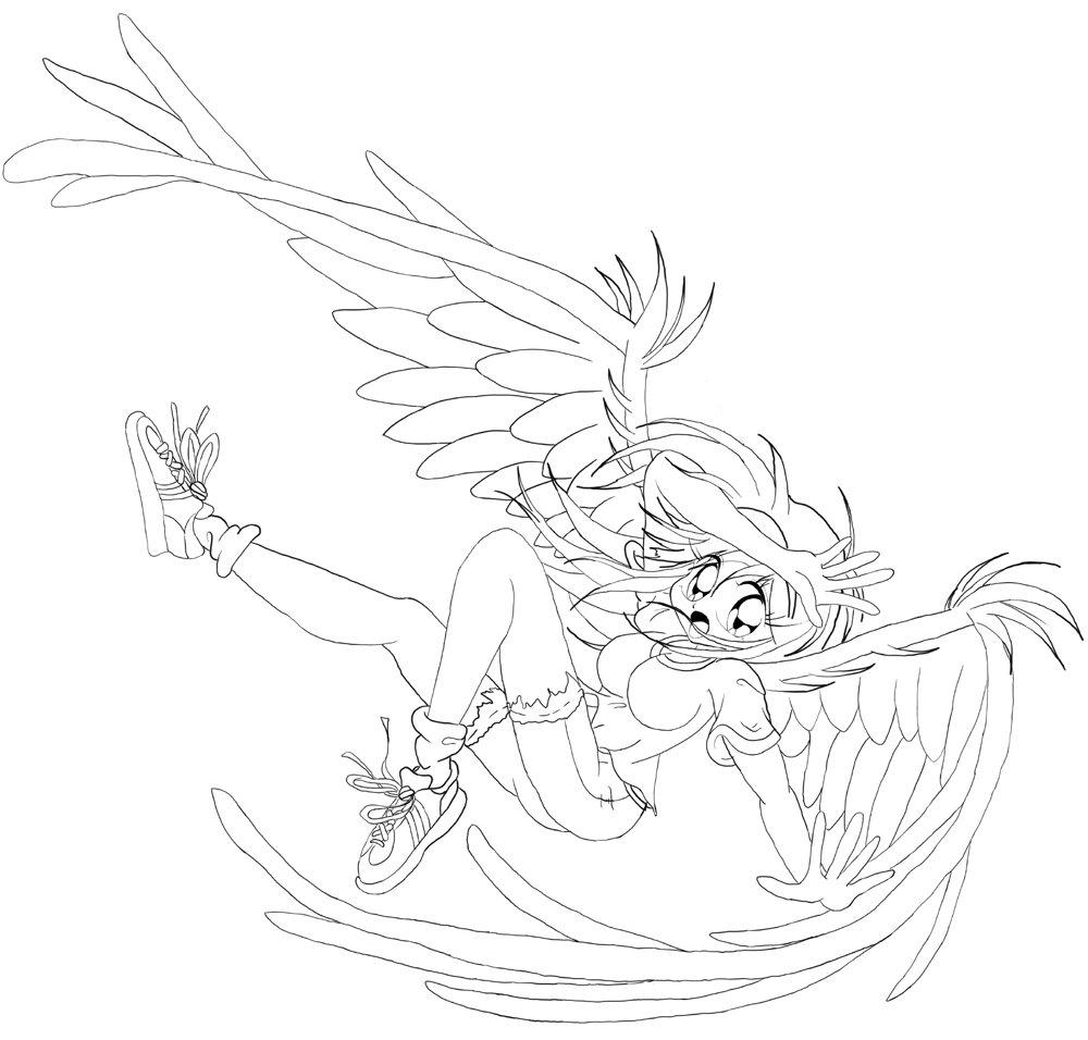 Fallen Angel coloring #6, Download drawings