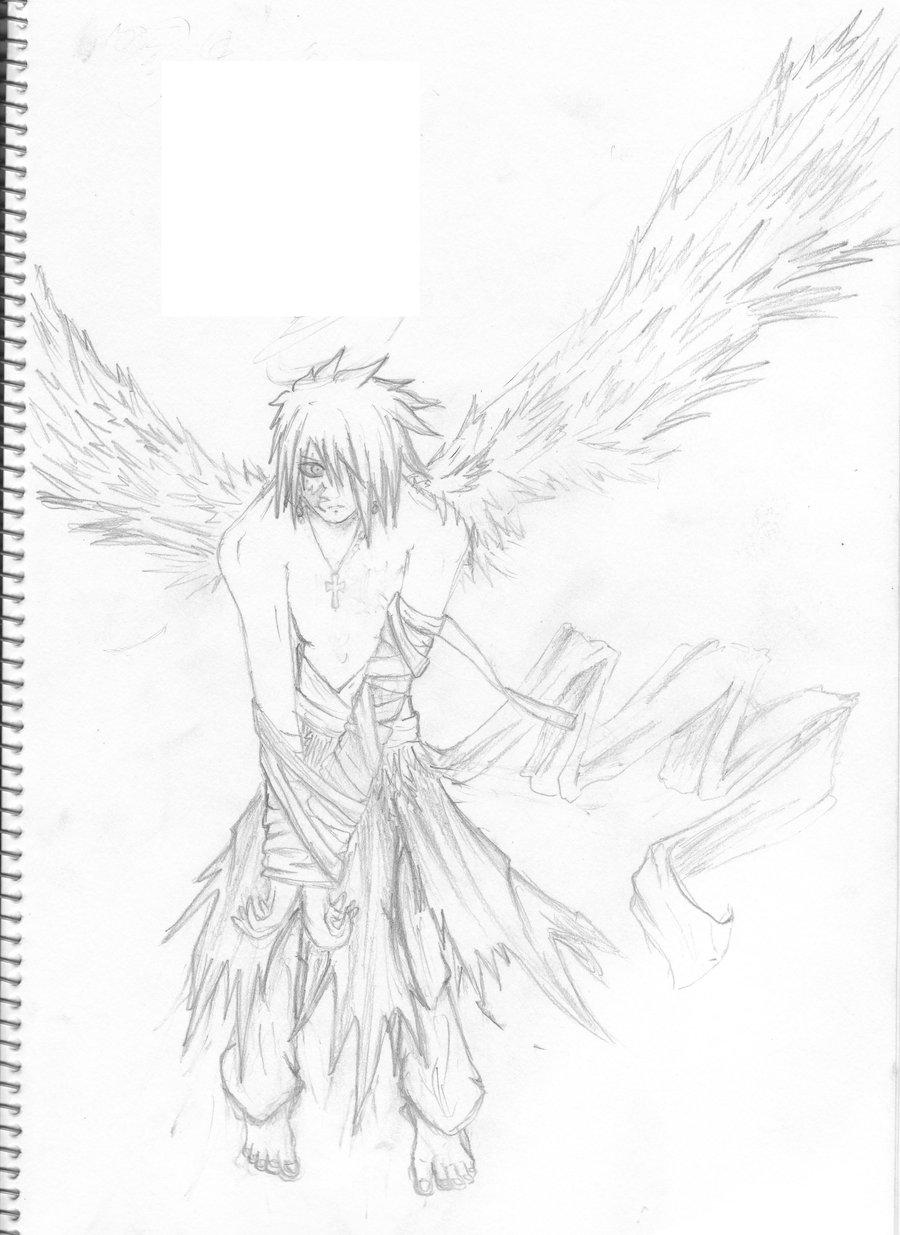 Fallen Angel coloring #4, Download drawings