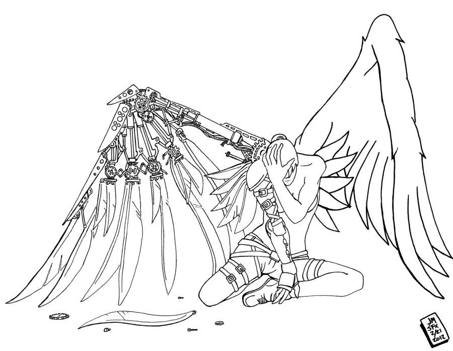 Fallen Angel coloring #19, Download drawings