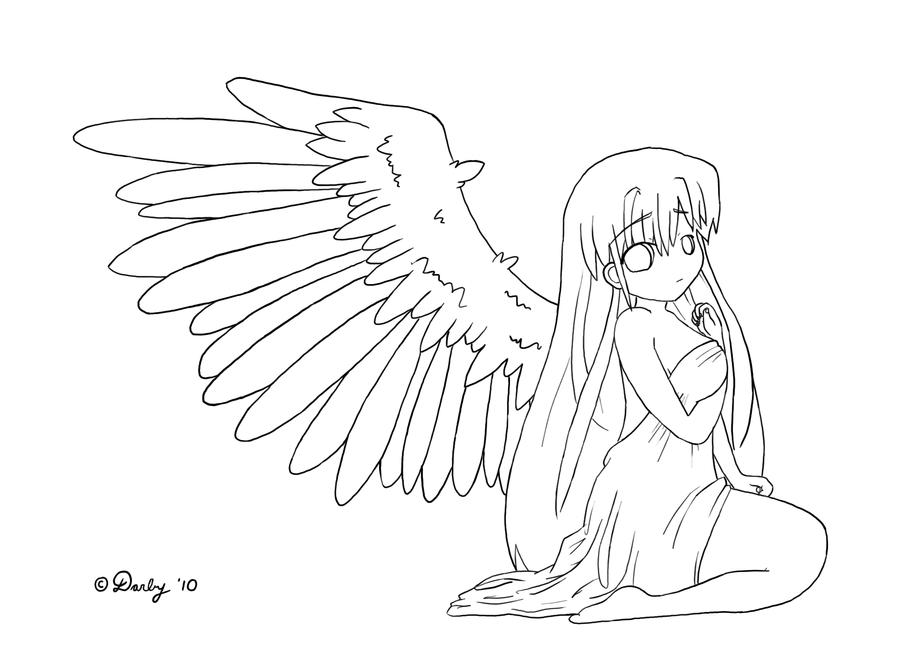 Fallen Angel coloring #2, Download drawings