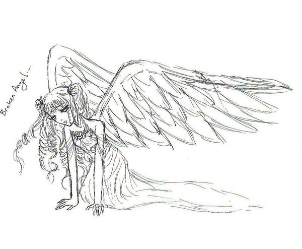 coloring pages of fallen angels - photo#3