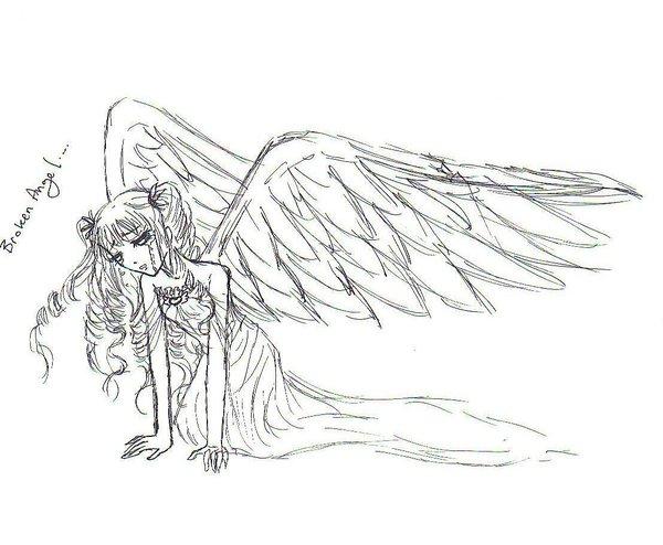 Fallen Angel coloring #15, Download drawings