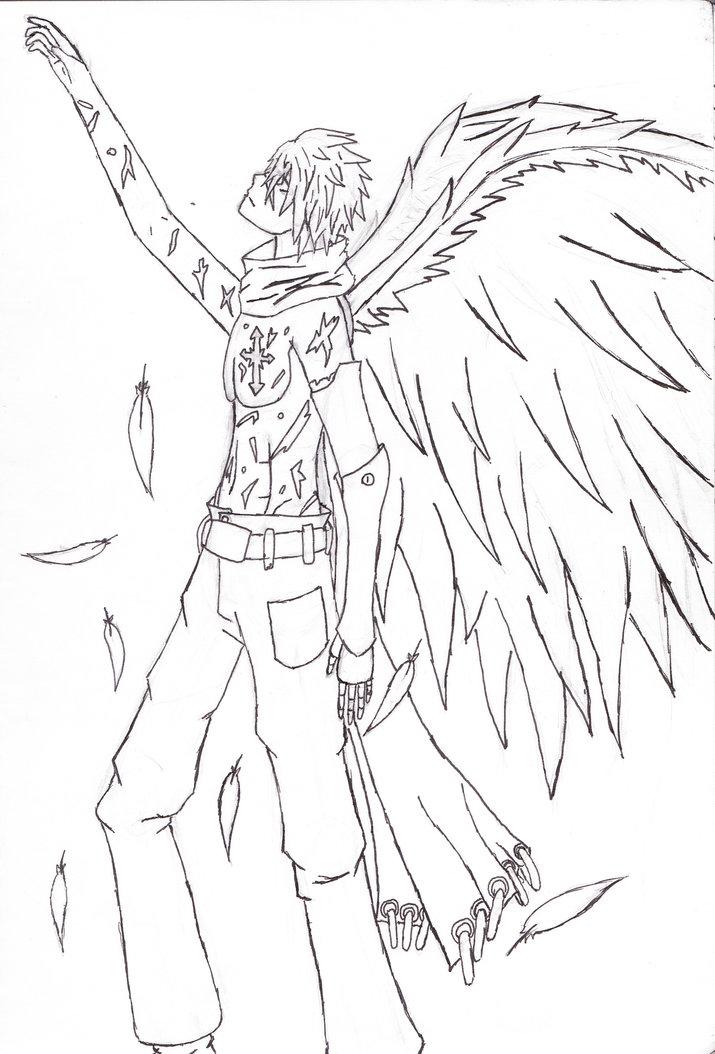 Fallen Angel coloring #7, Download drawings