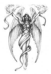 Fallen Angel coloring #13, Download drawings