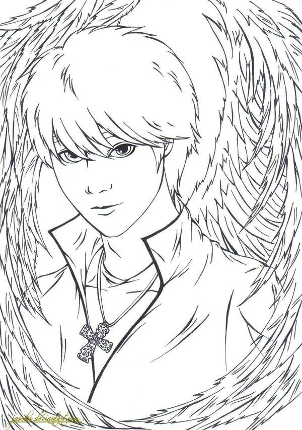 Fallen Angel coloring #14, Download drawings