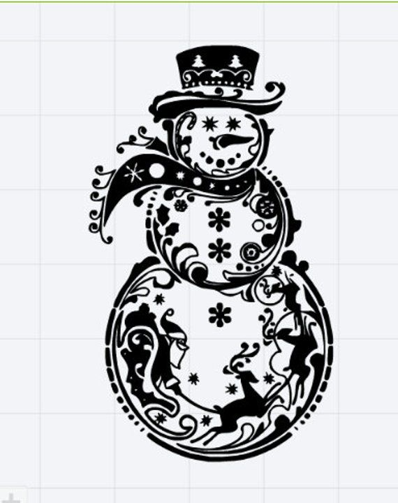 fancy snowman svg #61, Download drawings