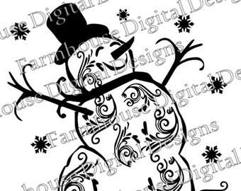fancy snowman svg #58, Download drawings