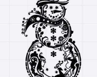 fancy snowman svg #60, Download drawings