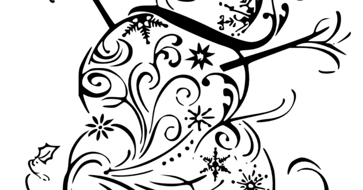 fancy snowman svg #54, Download drawings