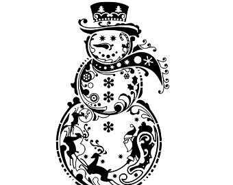 fancy snowman svg #55, Download drawings
