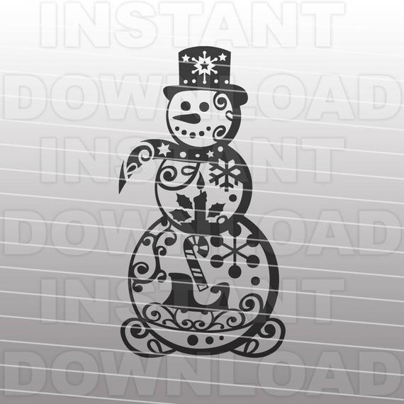 fancy snowman svg #56, Download drawings