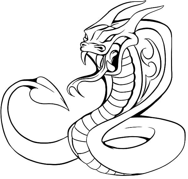 Cobra coloring #16, Download drawings