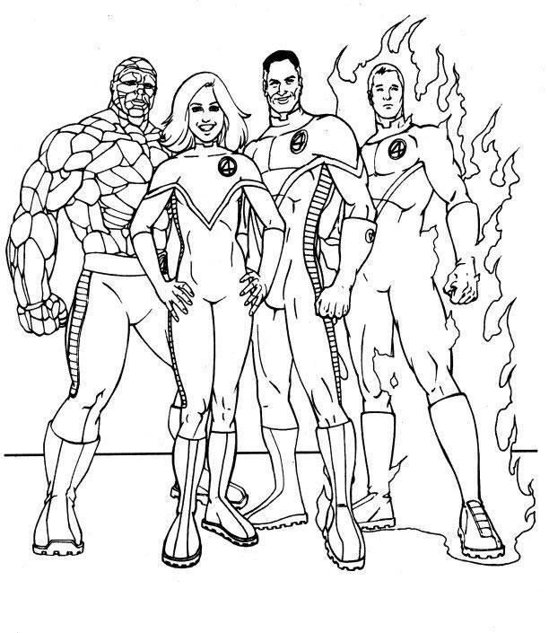 Fantastic Four coloring #18, Download drawings
