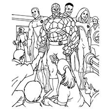 Fantastic Four coloring #7, Download drawings