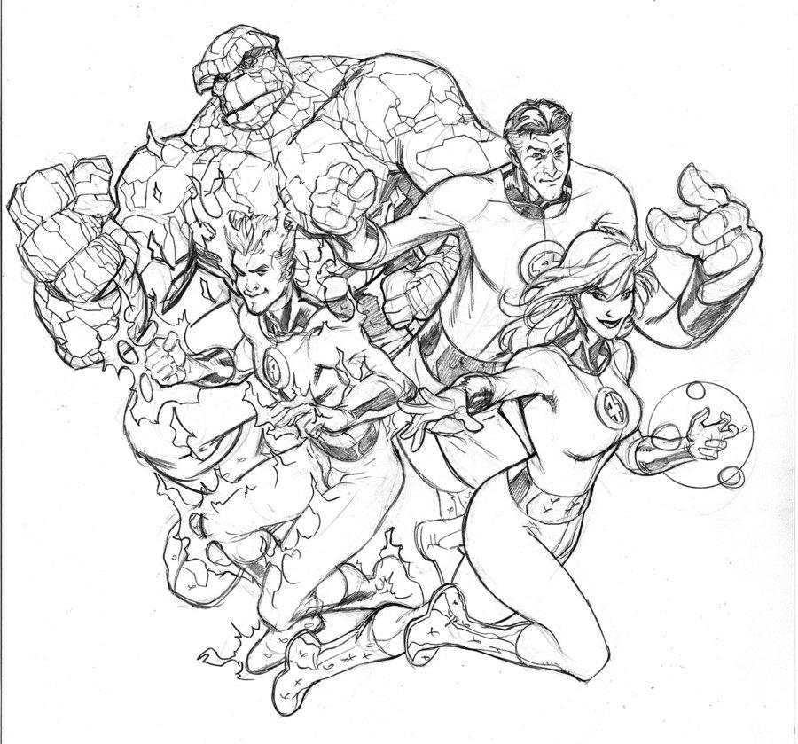Fantastic Four coloring #3, Download drawings