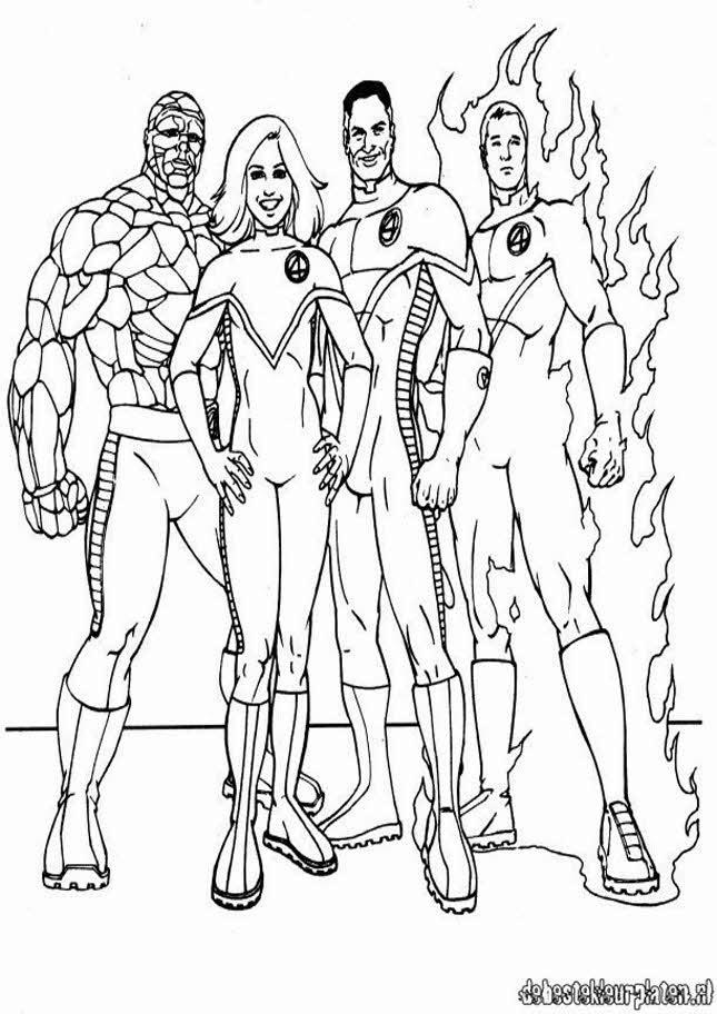 Fantastic Four coloring #5, Download drawings