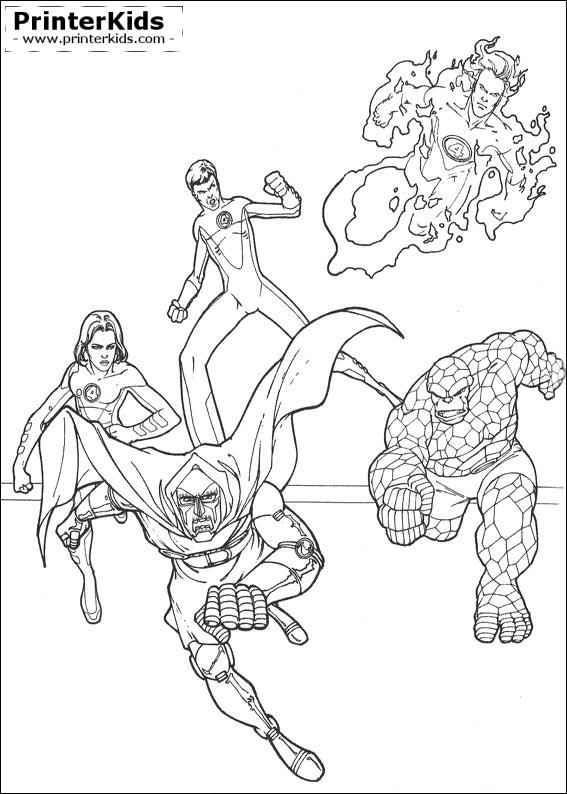 Fantastic Four coloring #1, Download drawings