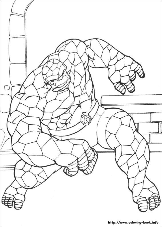 Fantastic Four coloring #4, Download drawings
