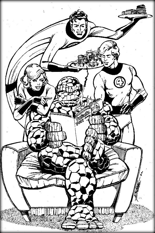Fantastic Four coloring #10, Download drawings