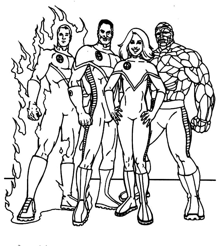 Fantastic Four coloring #20, Download drawings