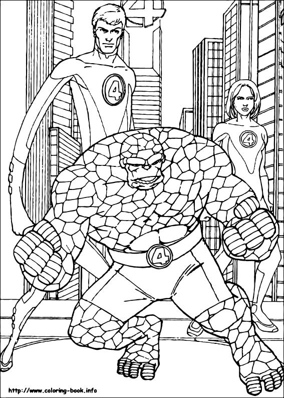 Fantastic Four coloring #19, Download drawings