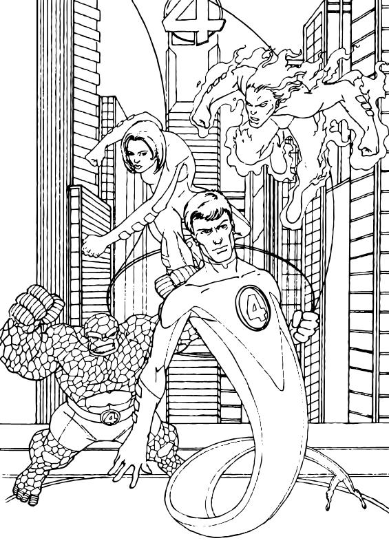 Fantastic Four coloring #11, Download drawings