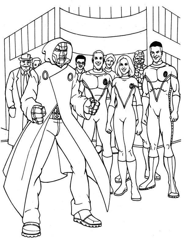 Fantastic Four coloring #9, Download drawings