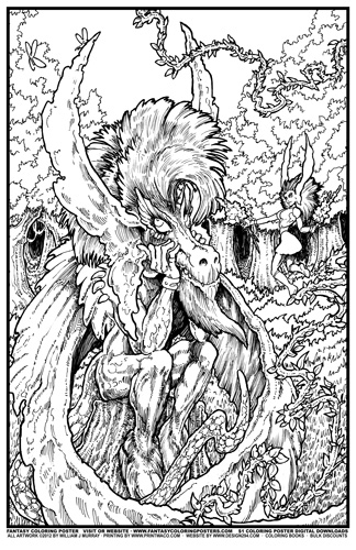 Fantasy coloring #11, Download drawings