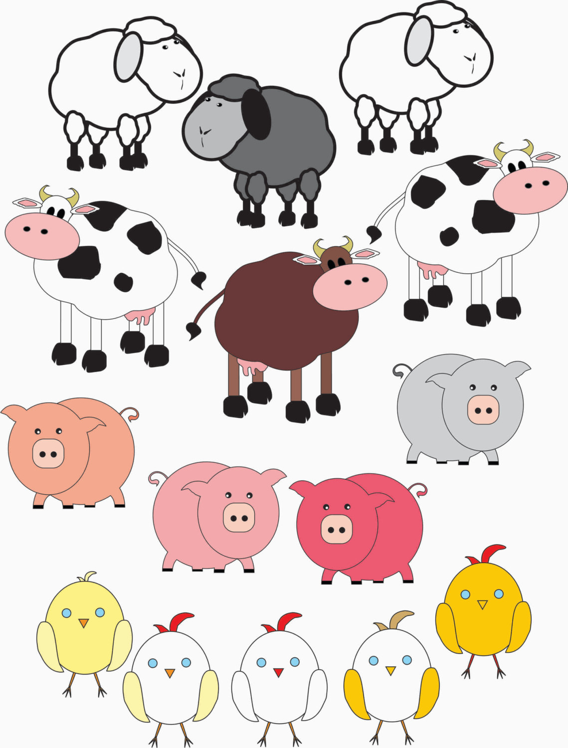 Farm Animals clipart #2, Download drawings