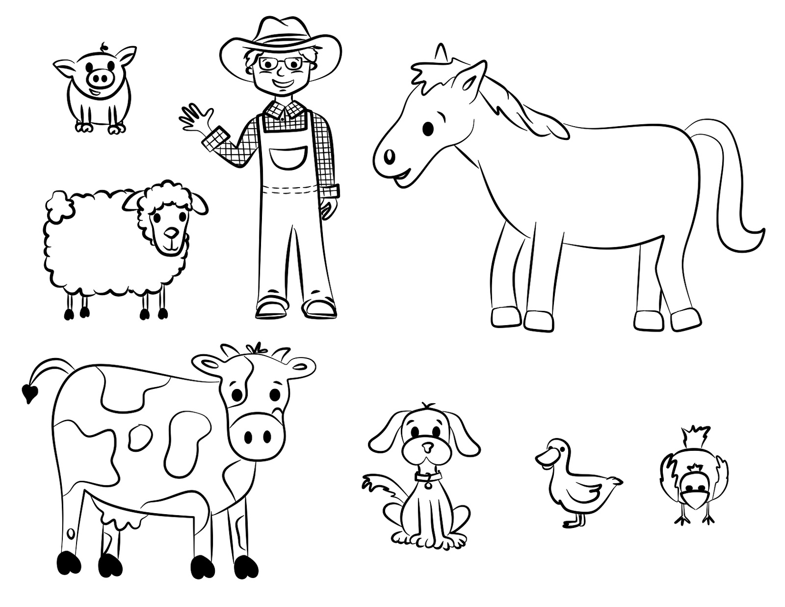 Farm Animals coloring #20, Download drawings